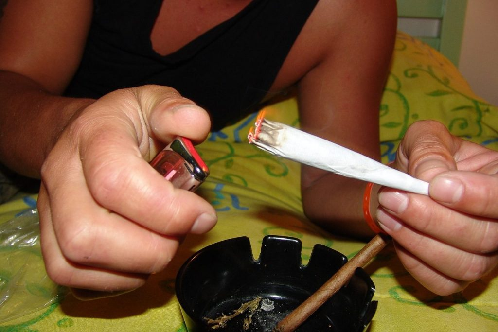 Lighting up a joint